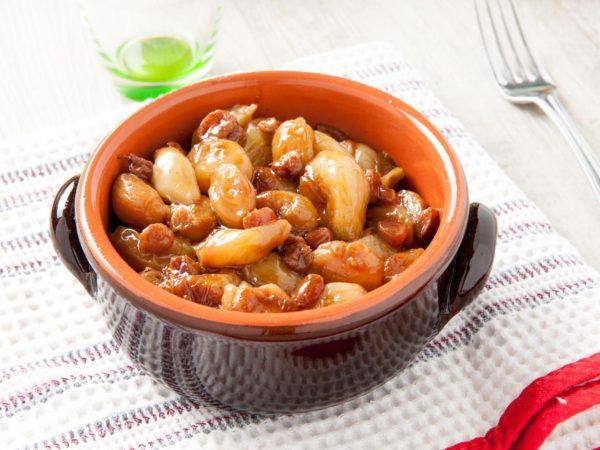 Chiellini frutta secca - ricetta cipolline in agrodolce
